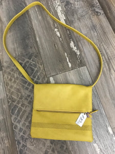 Sportsgirl yellow fold over bag with Zip