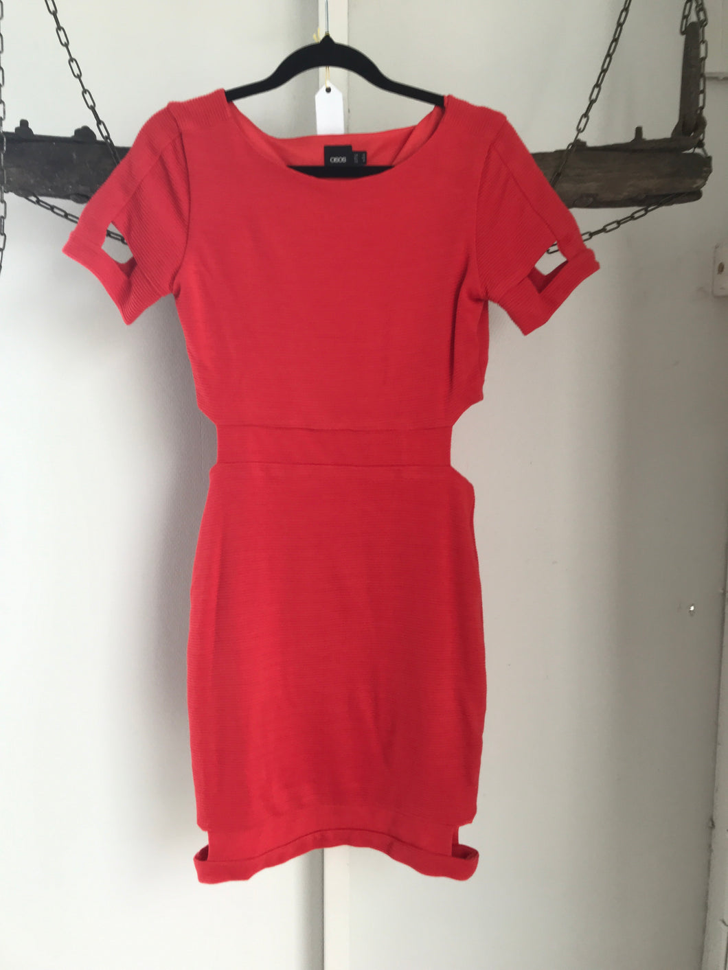 ASOS Red Hole Dress Size 10