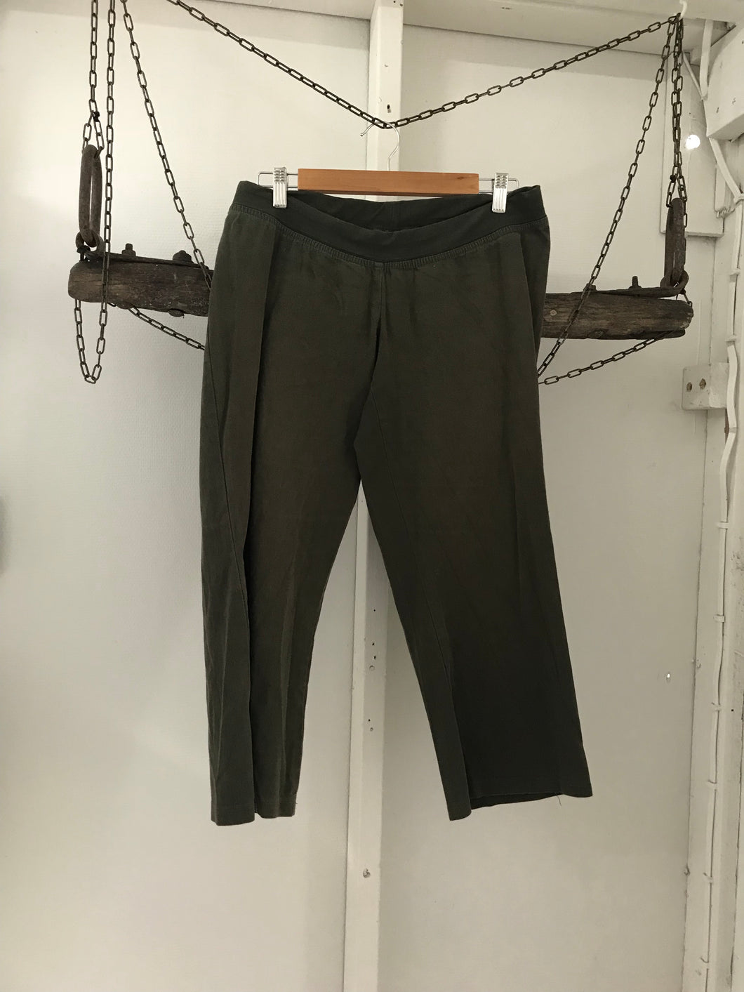 Belly Button maternity pants olive green Size Medium