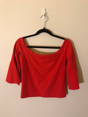 Forever New orange 3/4 sleeve thick top Size M (10-12 estimate)