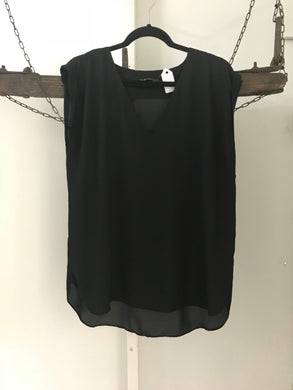 Glassons black loose V neck sleeveless top Size 10