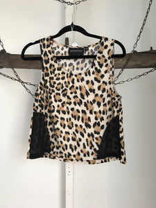 Mink pink Animal print Top Size XS