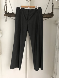 Cue Black Pinstriped Tailored Pants Size 12