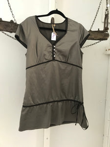 Something for Bec bronze button up top with tie Size S (estimated 10)