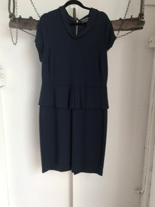 Basque Navy peplum Dress Size 16