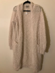 ASOS white fluffy long cardigan Size 10