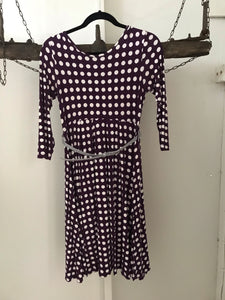 ASOS purple white spit 3/4 sleeve maternity dress Size 12