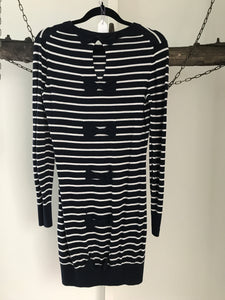 French Connection Navy/White Stripe Dress Size 6