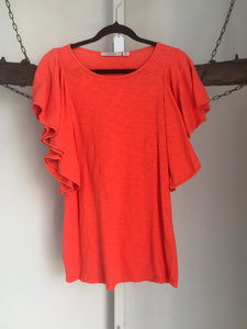 Country Road Orange Ruffle Top Size XXS