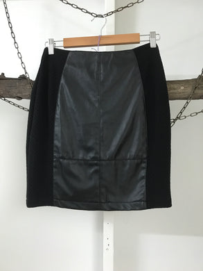 Pink Diamond Black Leather Skirt Size Small