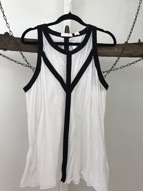 Sass & Bide black and white singlet top Size 10-12