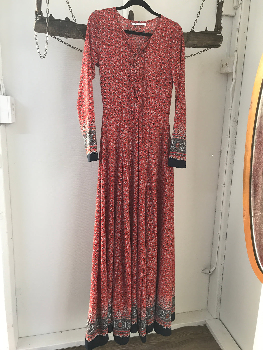 Glamorous Maxi, Red And Blue Dress (Kate Middleton) Size 8