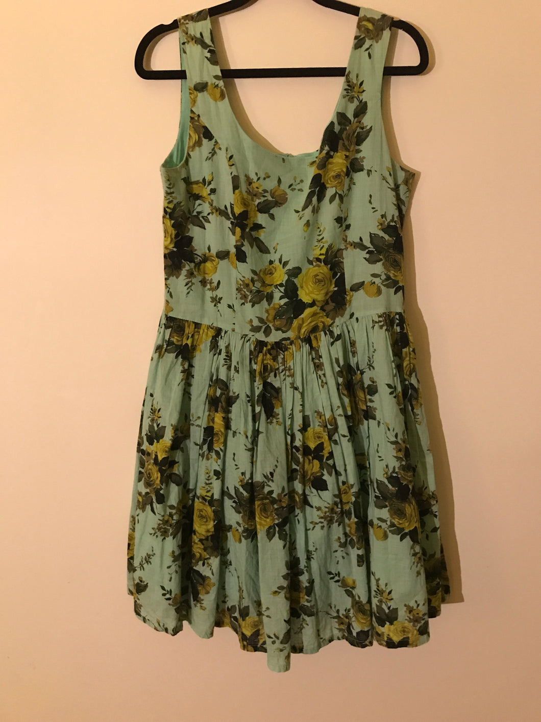 Revival retro mint floral dress Size 12