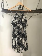 Karen Walker Black/White Silk Dress Size 10 NWT
