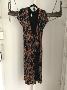 Star by Julie Macdonald cross orange/black dress Size 16