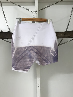 Premonition White/Grey Paint Skirt Size 8