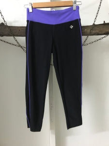 Sports Black/Purple Tights Size 8