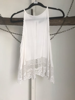 Glassons Cream Lace Shoestring Top Size 6