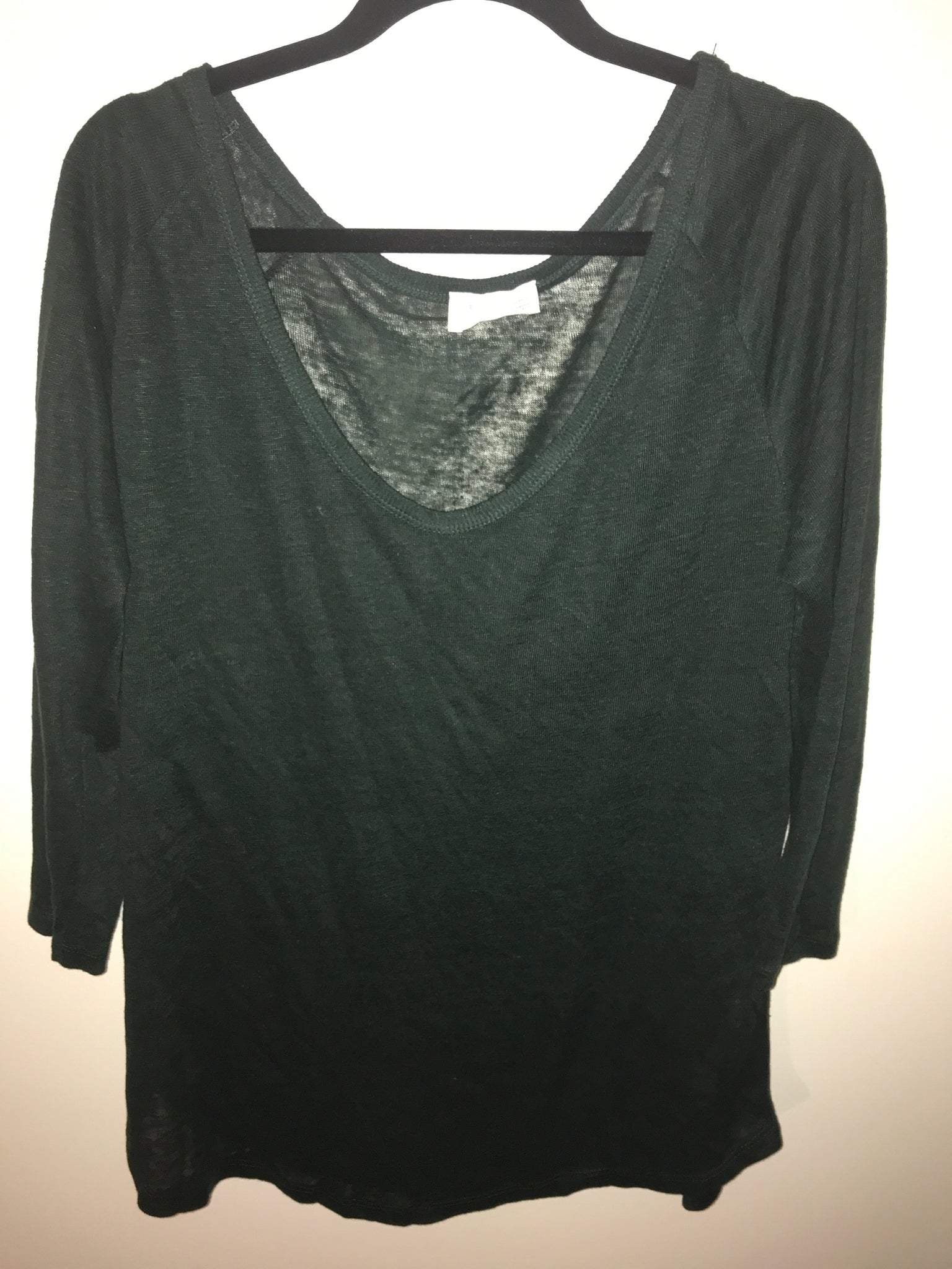 72e063ad Zara T-shirt collection dark green top Size US-Medium – The Old New ...