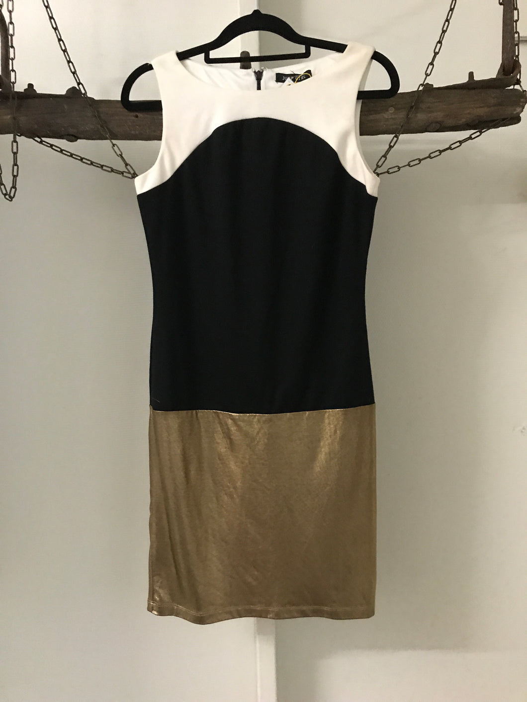 Jump Girl white/black/gold dress Size S