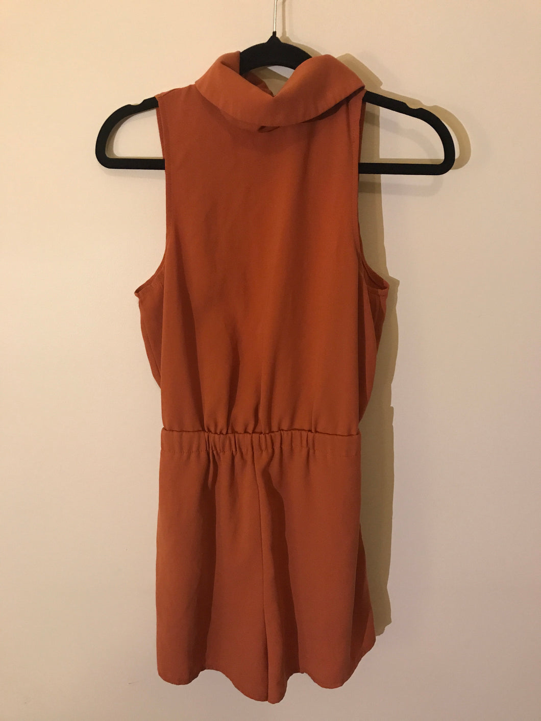 Luvalot brown slit-back jumpsuit Size 8