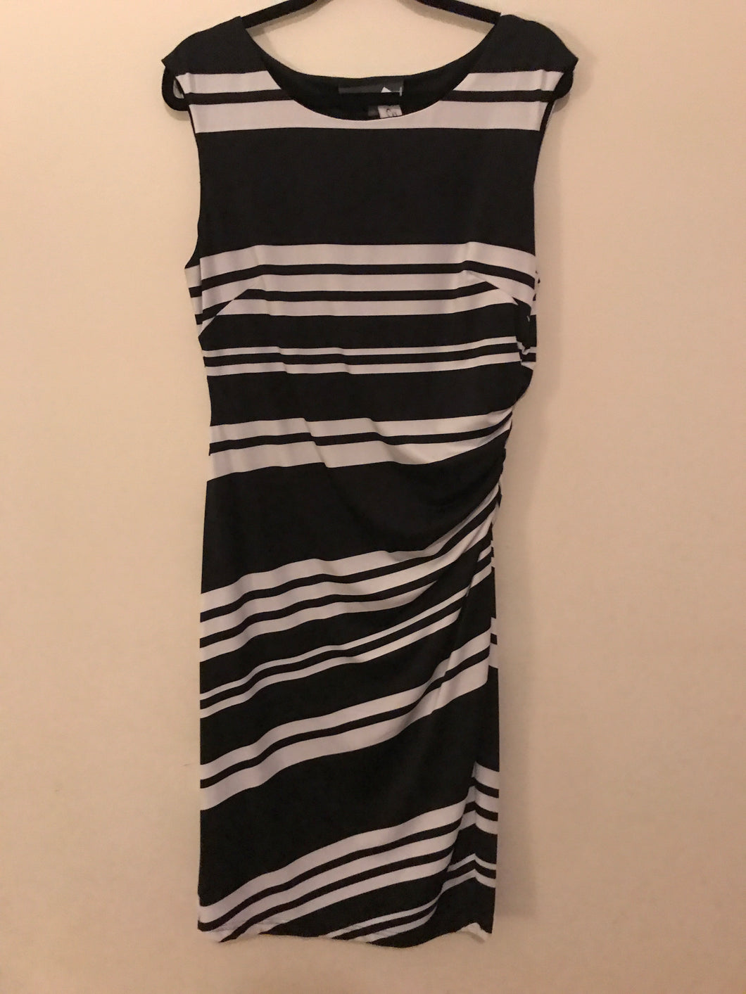 Hartford Grove black/white stripe dress Size 10