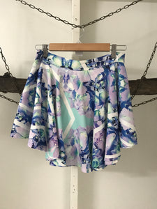 Mooloola Purple/blue Floral Skirt Size 10 (estimate)