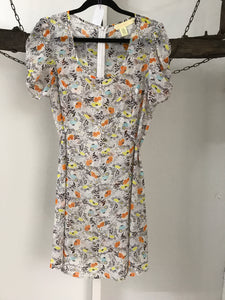 Pins And Needles Orange/Yellow Floral Dress Size 10