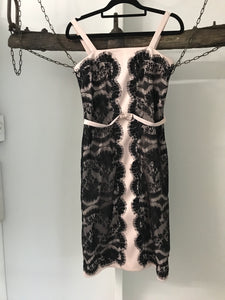 Events Collection nude and black lace with bow Size 6