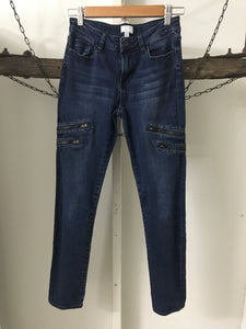 Witchery Girls Zip Jeans Size 14