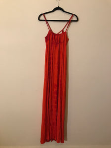 Forever New Long Orange/Red Dress Size 10