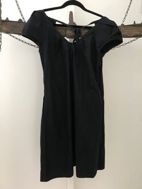 Cue black cotton tunic with tie Size 8