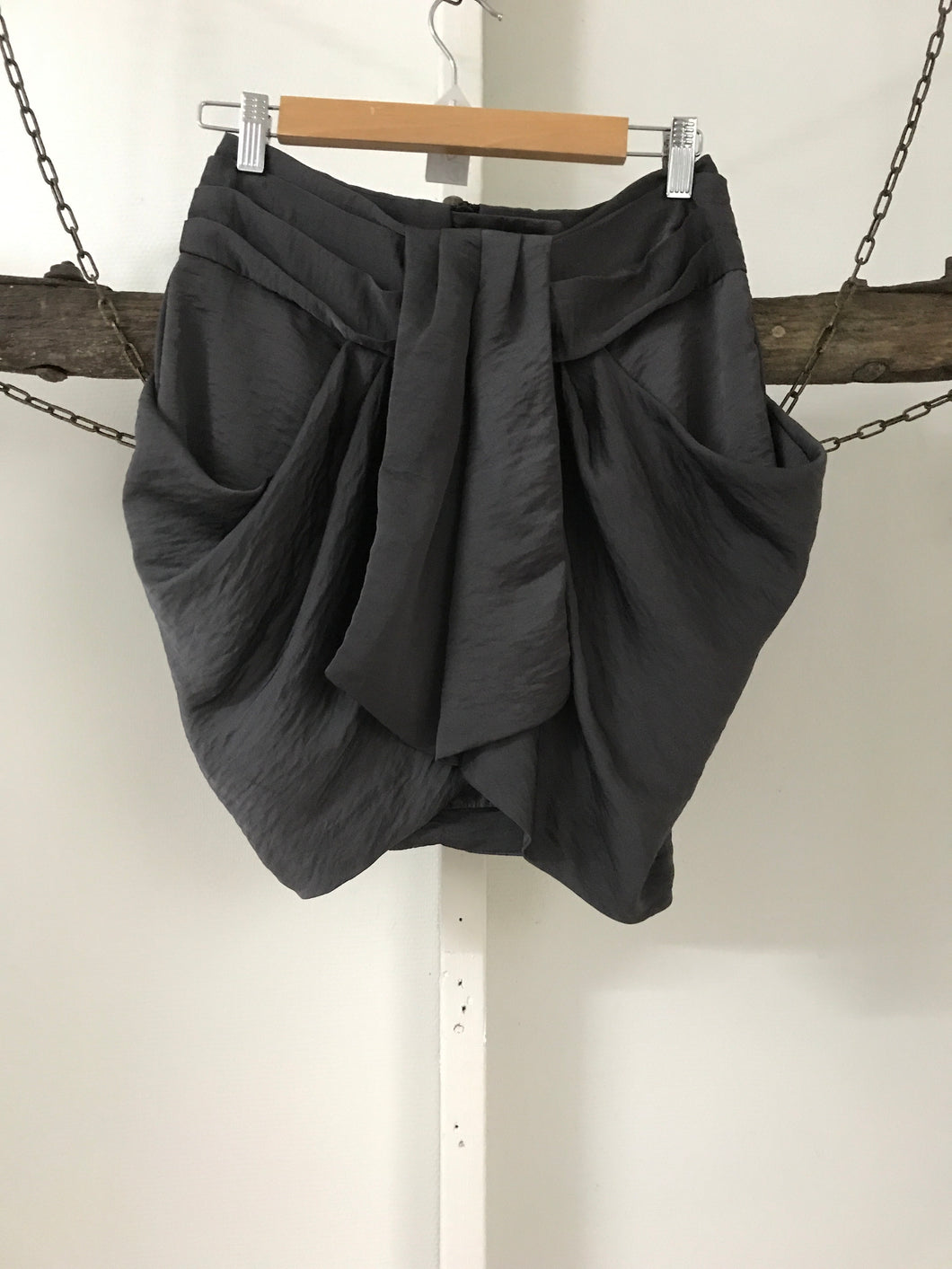 ASOS Grey Twist Skirt Size 10