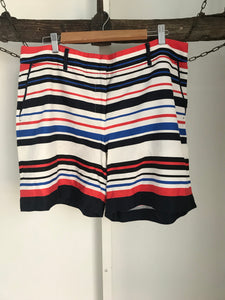 Jacqui e blue,white and red striped shorts Size 18
