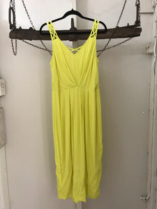 Forecast yellow 3/4 length cross back dress Size 12