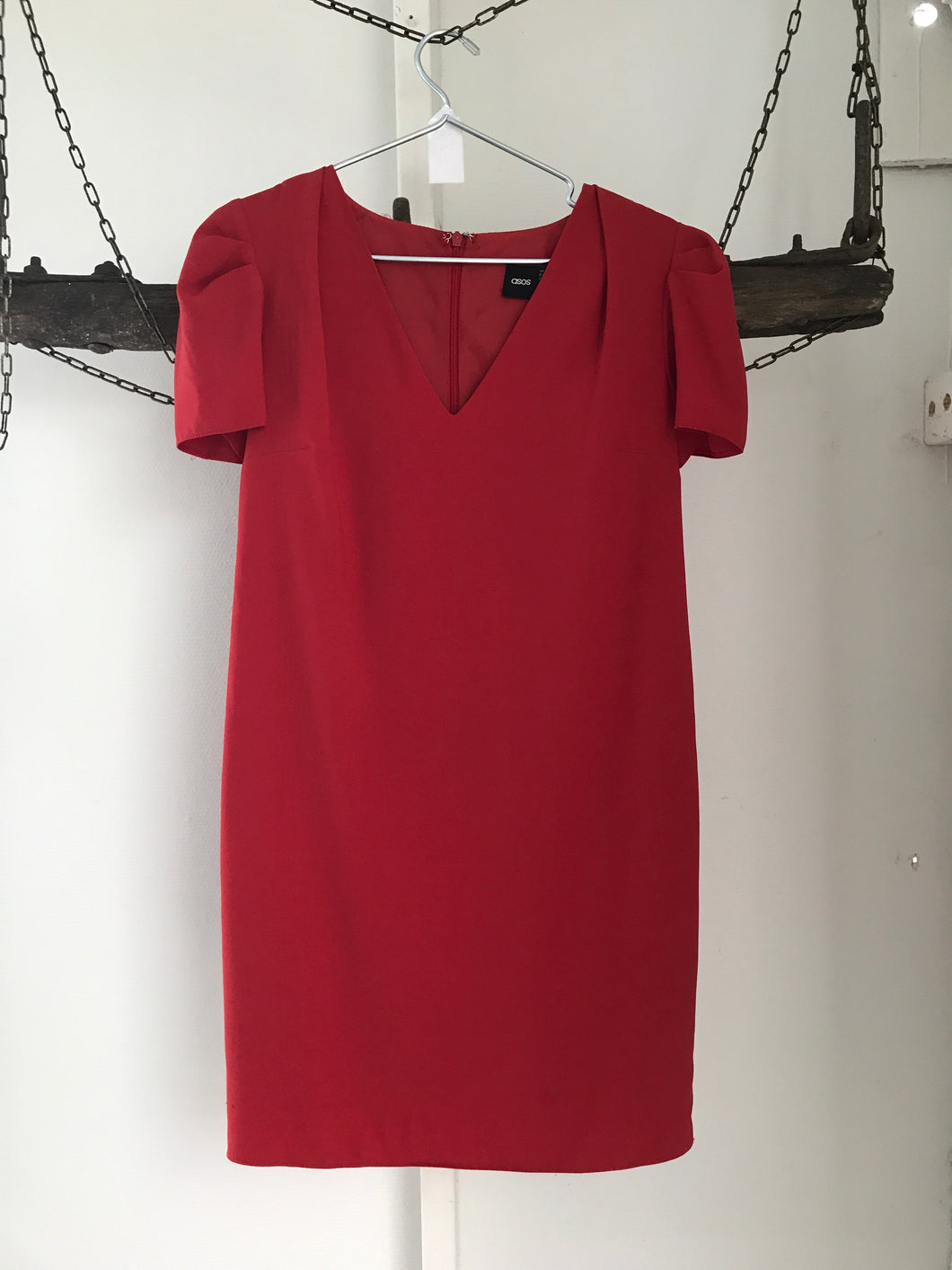 ASOS Red Straight Dress Size 8
