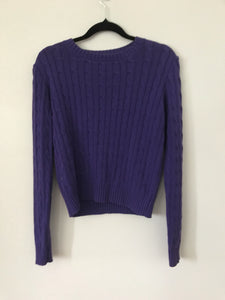 American Apparel purple knit jumper Size M (estimated 10)