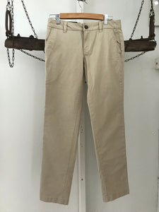 Tommy Hilfiger straight leg beige long pants Size 4 ( estimated 8)NWT
