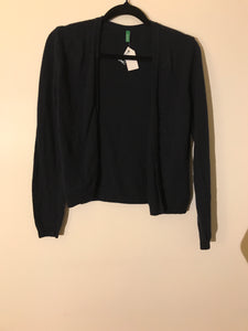 United colors of Benetton navy knit cardigan Size XS (estimated 6-8)