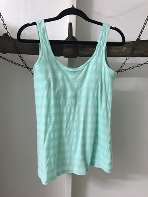Bonds Turquoise Singlet built-in bra Size 12