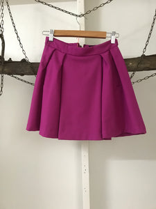 ASOS Fuscia Pleat Skirt Size 6