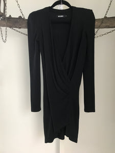 MissGuided Black Long Sleeves Dress Size 6
