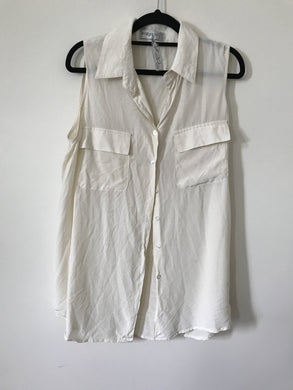 Bec & Bridge cream silk sleeveless blouse Size 12
