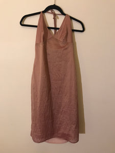 Veronika Maine shimmer pink Haulter Dress Size