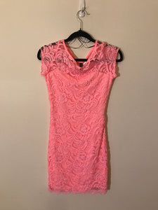 Divided (H&M) hot pink lace Dress Size 4(US)