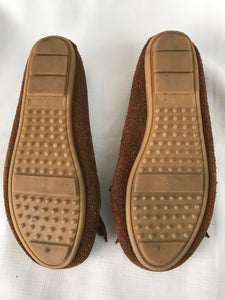 Pulp suede/ leather brown loafer size 7