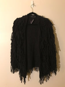 Sportsgirl black shaggy cardigan Size XS/X (estimated 8)