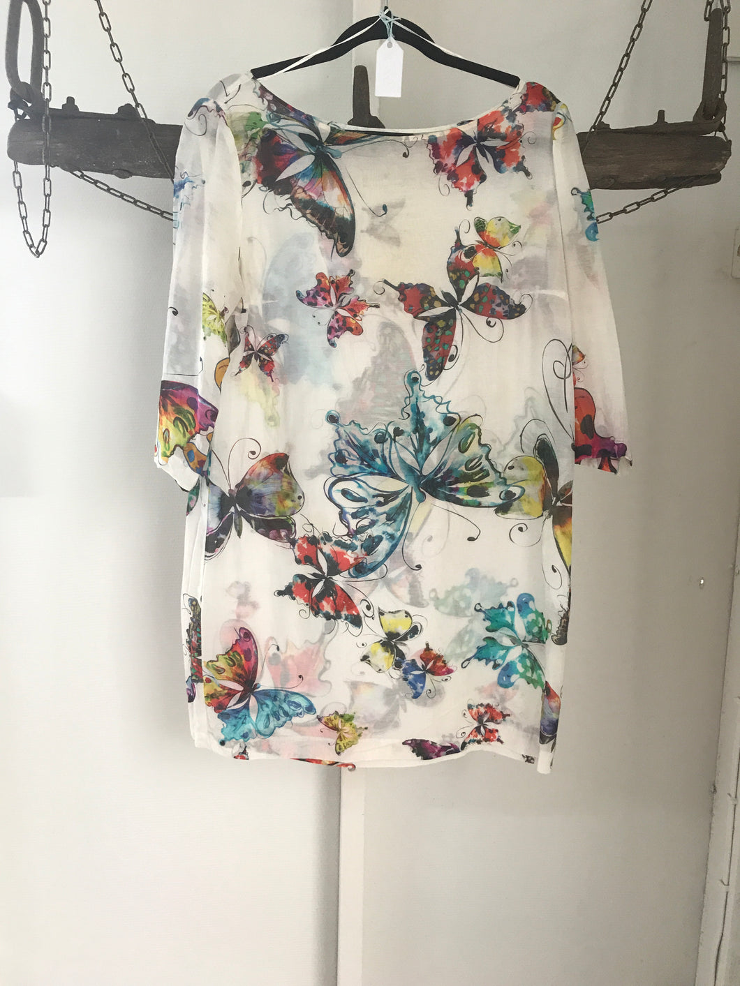 Zara Butterflies Silk Dress Size 10
