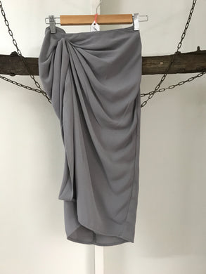 Atmos & Here Grey Ruffle Skirt Size 8 NWT