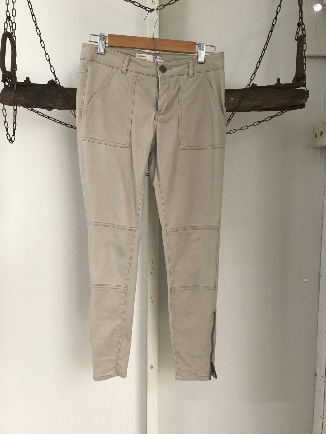 Cotton On Skinny Beige Riders Pants Size 8